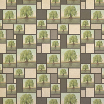 Old Weeping Willow Tree Kraft Gift Wrapping Paper