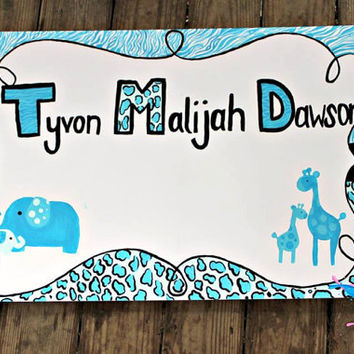 Baby Shower Sign in Board: Custom made sign in board for a baby shower. Graduation party sign in board.
