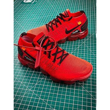 Clot X Nike Air Vapormax 2.0 Red Sport Running Shoes