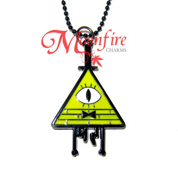 GRAVITY FALLS Bill Cipher Character Pendant Necklace