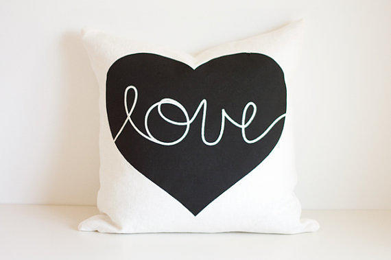 Heart Cushion love by lovemaki on Etsy