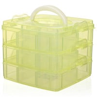 ROMWE | Nail Art Makeup Cosmetics Jewelry Container Storage Box Case, The Latest Street Fashion