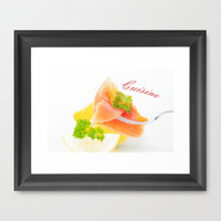 Salmon Food Design Framed Art Print by Tanja Riedel | Society6