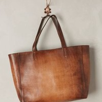 Burnished Leather Tote by Alchimia Brown One Size Bags