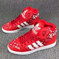 Adidas x Supreme x LV Louis Vuitton High Help Fashion Trending Leisure Running Sports Shoes I-CSXY Red