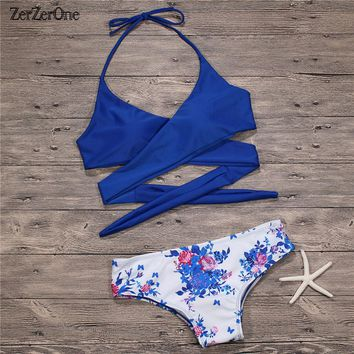 Bikini 2018 Women Swimsuit Sexy Brazilian Swimwear Cross Bandage Bathing Suit Swimming Suit for Women Bikini Set Beach Wear Swim