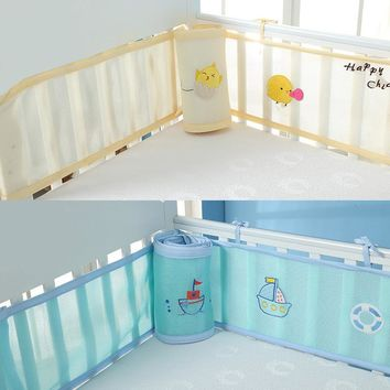 Baby Bed Bumper Breathable Mesh Crib Protector Baby Bedding Set Croth To The Cot 2 Pcs Lot Fit For All Size Crib Round