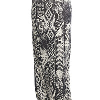 Abstract Tribal Maxi Skirt | Wet Seal