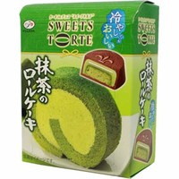 Fujiya Green Tea Roll Cake Chocolate