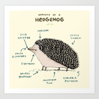 Anatomy of a Hedgehog Art Print by Sophie Corrigan