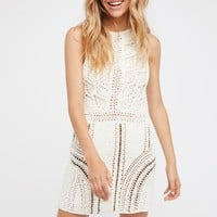 Free People Alora Crochet Mini Dress