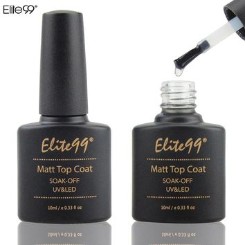 Elite99 10ml Matt Top Coat Nail Gel Polish Nail Art Transparent Dull Finish Matte Top Coat Long Lasting Gel Lacquer Matt Top Gel