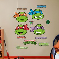 Teenage Mutant Ninja Turtles Classic Faces Collection Wall Decals by Fathead