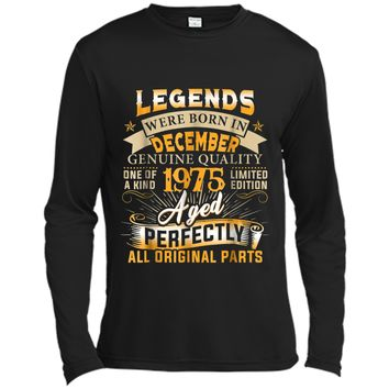 Legends Were Born In December 1975  43rd Birthday Gift Long Sleeve Moisture Absorbing Shirt