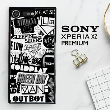 The Xx Coldplay Arctic Monkeys The Neighbourhood Sleeping With Sirens The 1975 Band Z0252 Sony Xperia XZ Premium Case