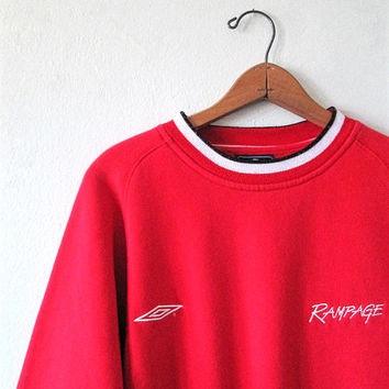 Vintage 1990s UMBRO RAMPAGE Athletic Soccer Sweatshirt Sz XL