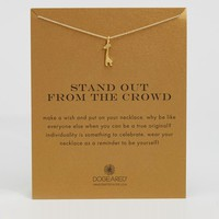 Dogeared Gold Plated Stand Out From the Crowd Giraffe Reminder Necklace