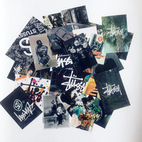 46 Stussy Stickers Fashion Cool brand high quality waterproof PVC For Suitcase Refrigerator skateboard laptop Handbag Sticker