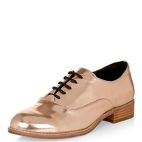 Bronze Metallic Brogues