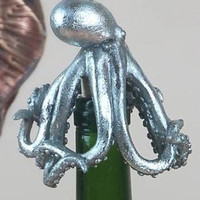 Cork Wine Bottle Stopper with Octopus