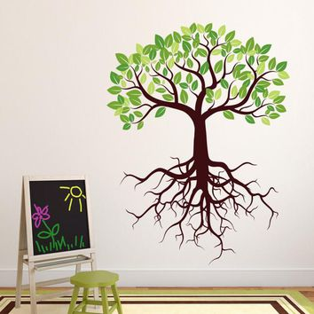 Tree with Roots Wall Decal
