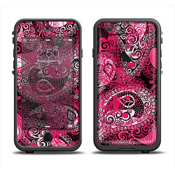 The Pink & White Paisley Pattern V421 Apple iPhone 6/6s Plus LifeProof Fre Case Skin Set
