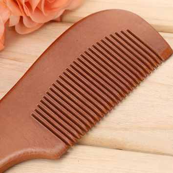 Natural Massage Hair Brush Static Peach Wood Comb