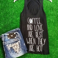 HOT COFFEE AND LOVE TANK