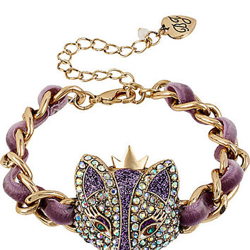 BetseyJohnson.com - IMPERIAL FOX RIBBON BRACELET PURPLE