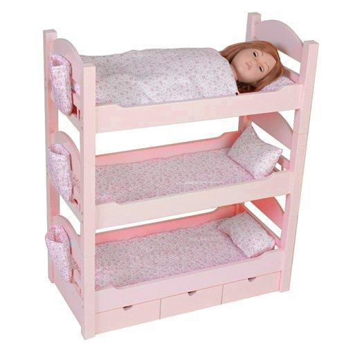 18 inch doll triple bunk bed stackable from amazon things i. Black Bedroom Furniture Sets. Home Design Ideas