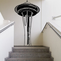Vinyl Wall Decal Sticker Space Needle #OS_MB635