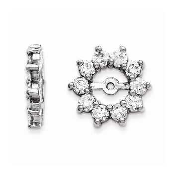14K White Gold 14kw AAA Diamond Earring Jacket