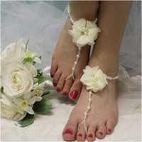 BALI barefoot sandals - ivory