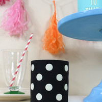 kate spade: let's chill drink cozy-black dots