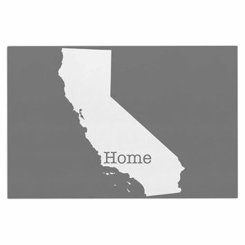 "Bruce Stanfield ""California Is Home"" Gray White Decorative Door Mat"