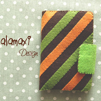 Handmade Stripes Versatile Phone Case Phone Purse Case Handmade Felt iPhone Case iPhone 4/4S/5/5S/5C Purse Case