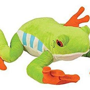 "Wildlife Tree 10"" Red-Eyed Tree Frog Stuffed Animal Plush Floppy Zoo Animal Den Collection"