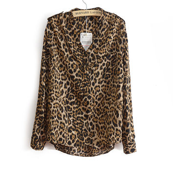 With Pocket Leopard Shirt [5013370884]
