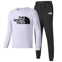 The North Face New fashion letter print long sleeve top and pants sports leisure two piece suit White