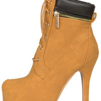 Donna Camel Booties- FINAL SALE