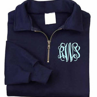 Monogrammed Zip Monogrammed Sweatshirt  -1/4 Monogrammed Sweatshirt from The Palm Gifts