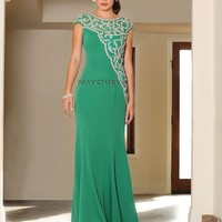 Long Stretch Mother of the Bride Evening Plus Size Dress Groom