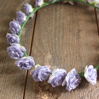 Purple Roses Flower Crown