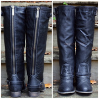 SZ 6 Montana Maple Black Strap Riding Boots
