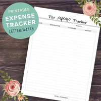 Expense Tracker, Budget Planner, Budget Planner Inserts, Monthly Finance Planner, Expenses, US Letter, A4, A5 Planner Inserts, PRINTABLE PDF