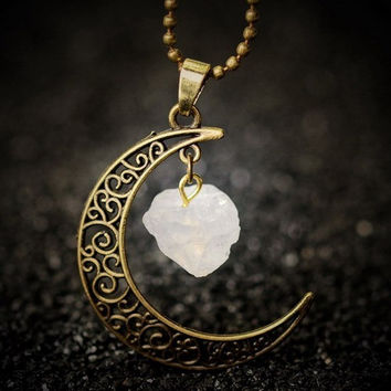 Clear Stone Sailor Moon Necklace