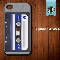 Cassette iPhone Case - Plastic or Silicone Rubber iPhone 4 4S Case Cover - MC117
