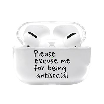 Please Excuse Me Airpods Pro Case