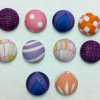 Decorative Ottavio Fabric Thumbtacks/Push Pins Set of 10