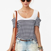 Brooklyn Stripe Tee in  What's New at Nasty Gal